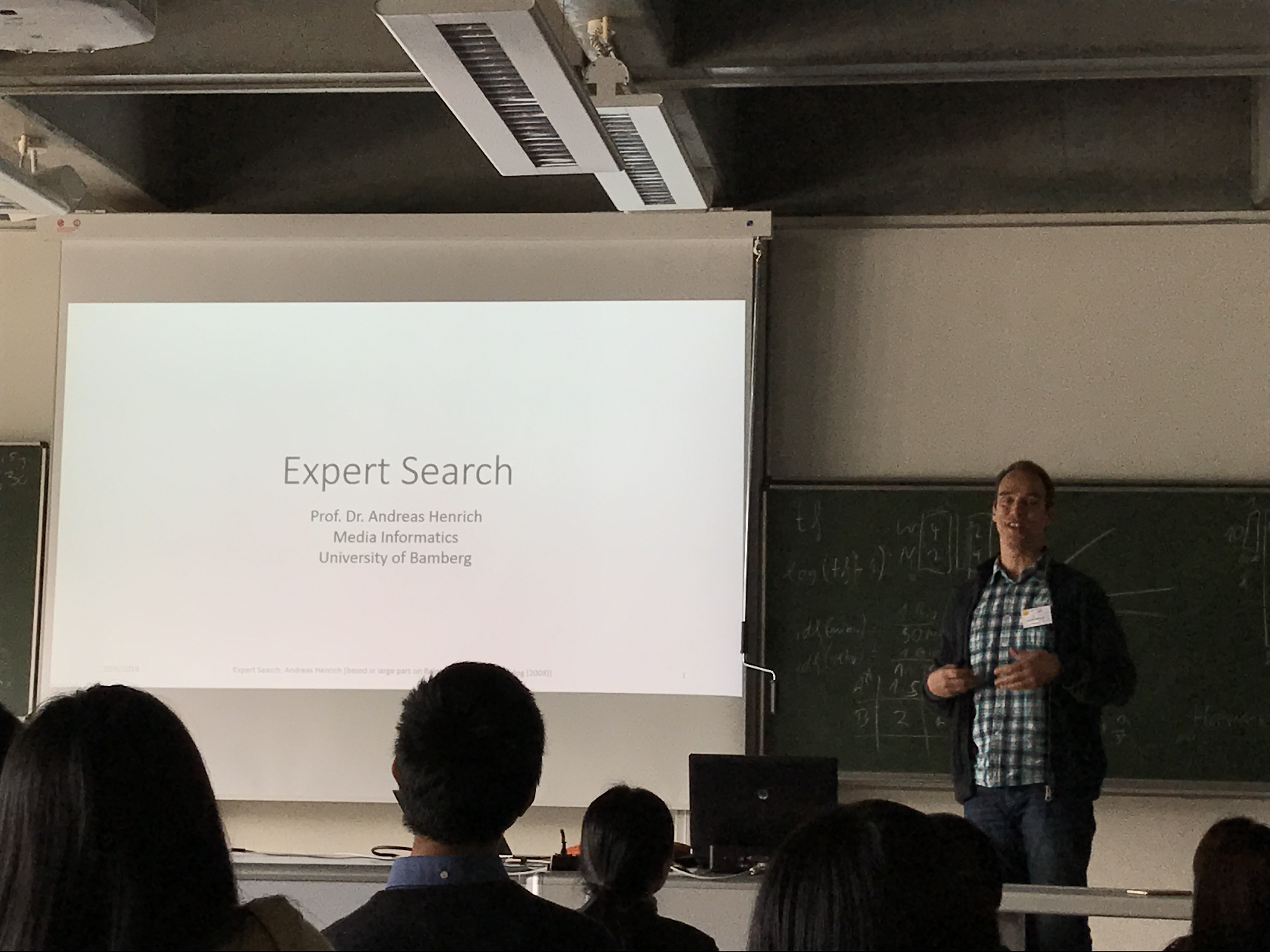 Expert Search by Andreas Henrich, lecture at ASIRF 2016